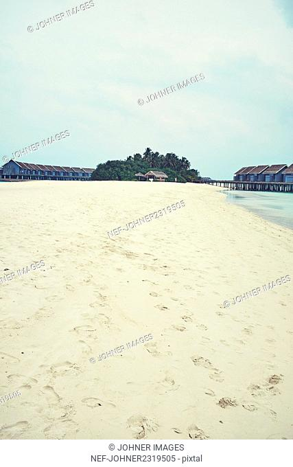 View of sandy beach