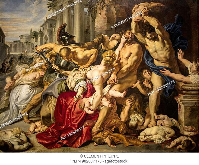 The painting Massacre of the Innocents / De kindermoord te Bethelehem by Flemish painter Peter Paul Rubens