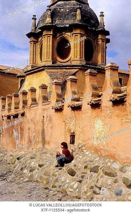 Sacromonte Abbey at Sacromonte troglodyte quarter Gipsy quarter, Granada, Andalusia, Spain, Europe
