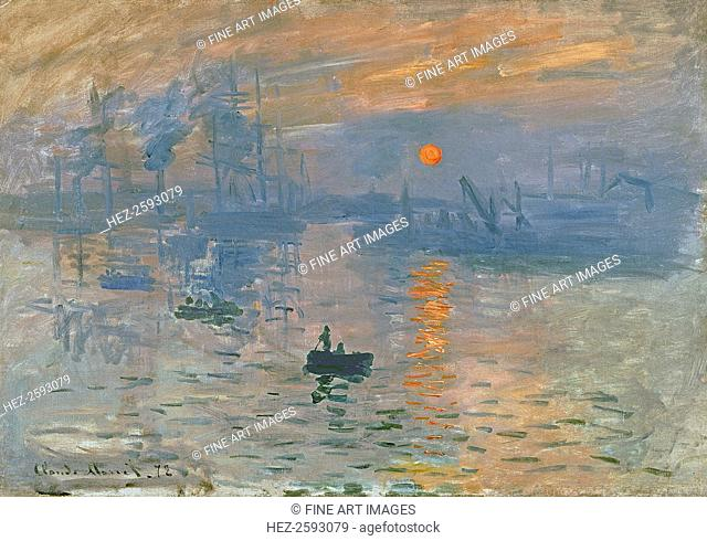 Impression, Sunrise (Impression, soleil levant), 1872. Found in the collection of the Musée Marmottan Monet, Paris