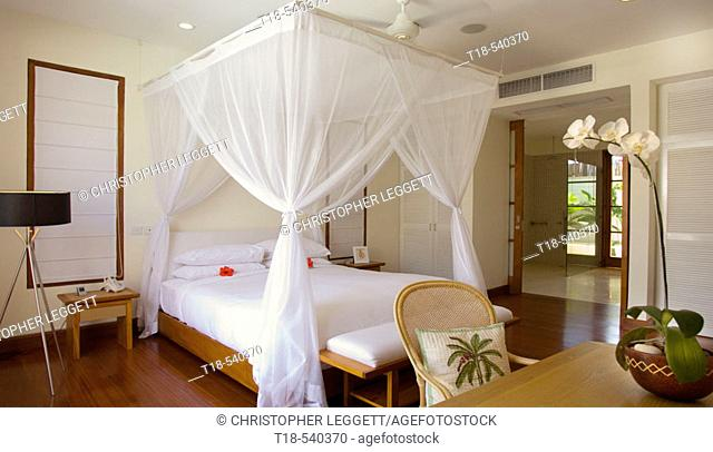 furniture and interior in villa's bedroom
