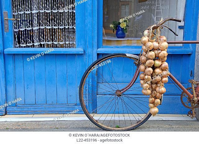 Johnnie's bike. Roscoff city. North Finistere. Brittany. France