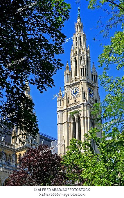 Tower, Vienna City Hall, Austria