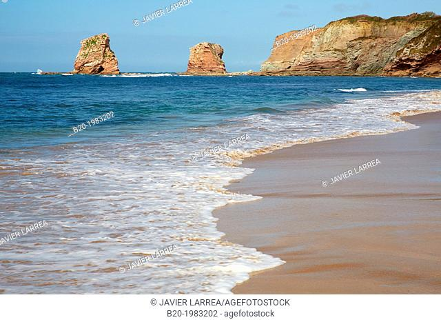 Beach of Hendaye, Pyrenees Atlantiques, Aquitaine, France