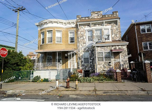 Homes in the City Line neighborhood on the Brooklyn-Queens border in New York. The small neighborhood has become an enclave for Bangladeshi immigrants