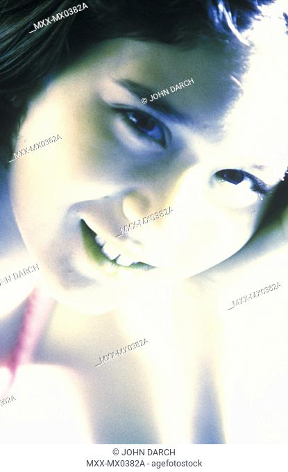 Close up of girls face (over exposed)