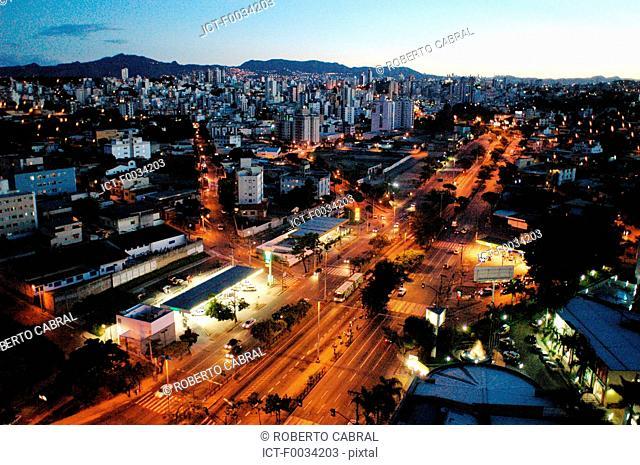 Brazil, Minas Gerais, Belo Horizonte by night
