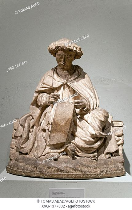 Saint John on Patmos, ca  1450-1500, ca  1450-1500, Made in Burgundy, France, Limestone, Metropolitan Museum of Art, New York City