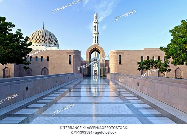 The Grand Mosque with minarets in Muscat, Oman