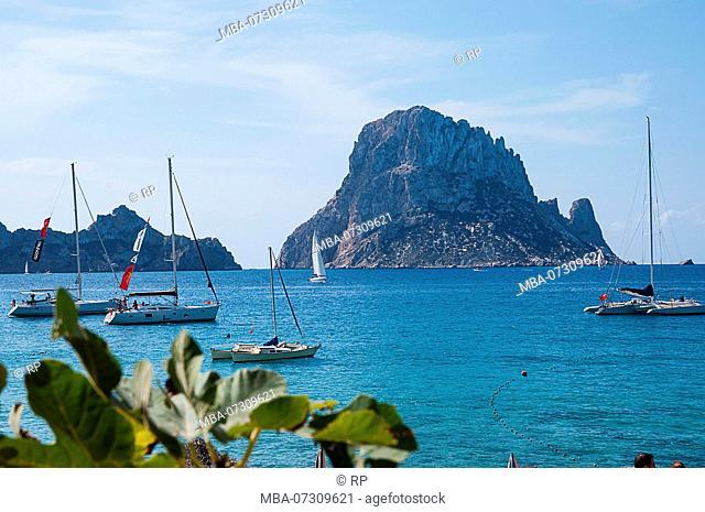Superyacht, Ibiza, Spain, Landscape, Es Vedra