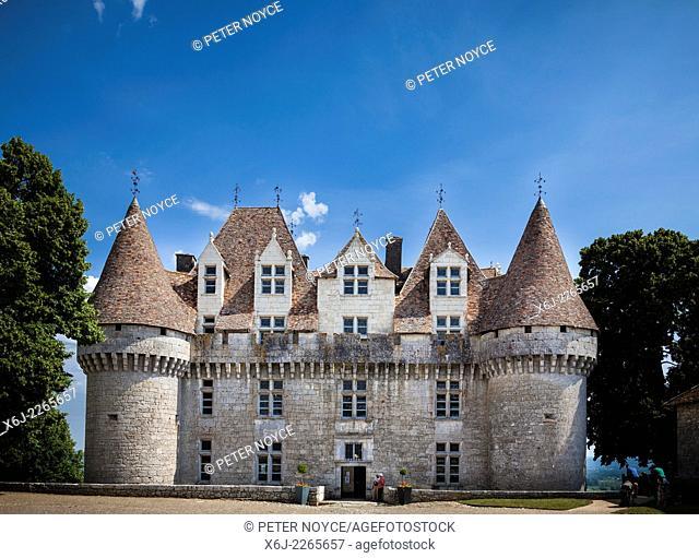 Main entrance to the Chateau de Monbazillac France