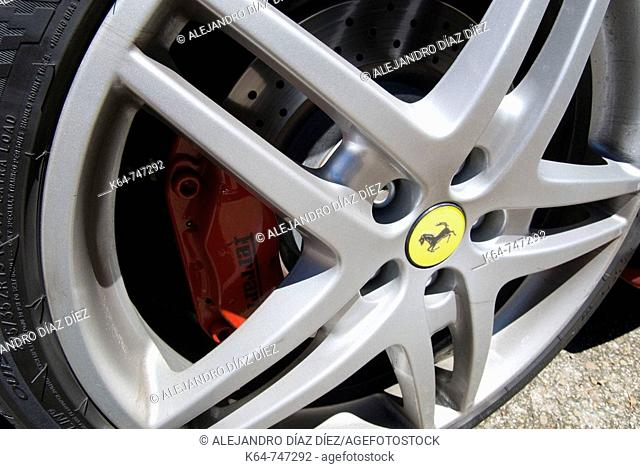 Ferrari wheel and brake system