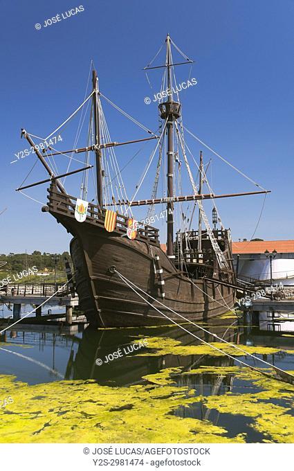 The Wharf of the Caravels (the Nao Santa Maria), Palos de la Frontera, Huelva province, Region of Andalusia, Spain, Europe
