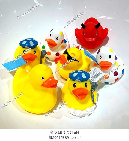 Assorted rubber duckies