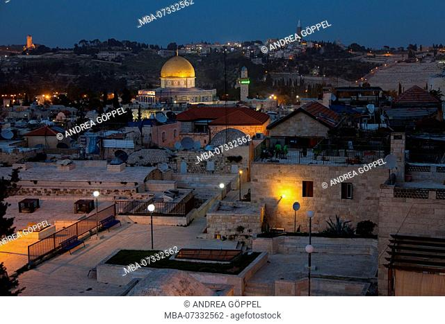Israel, Jerusalem, old town, view of Dome of the Rock