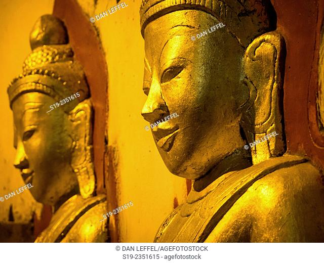 Cave Buddhas, Burma