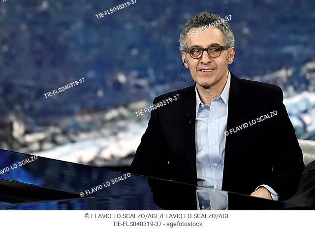 John Turturro during the tv show Che tempo che fa, Milan, ITALY-03-03-2019