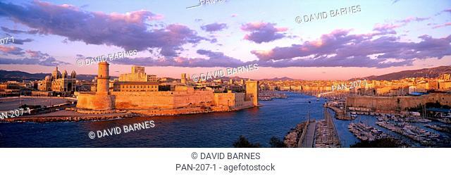 Cathedrale de la Major, Fort St. Jean, Old Port, Marseille, France