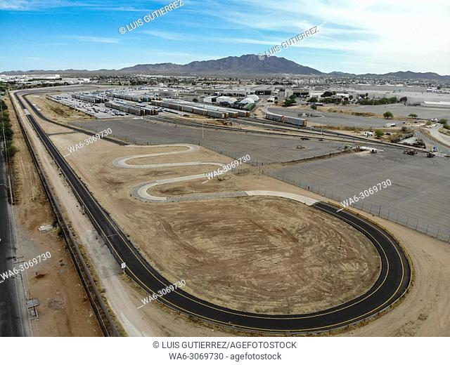 Aerial view of the Ford Motor Company automotive company in the Hermosillo industrial park. Automotive industry. . Hermosillo Stamping and Assembly is an...