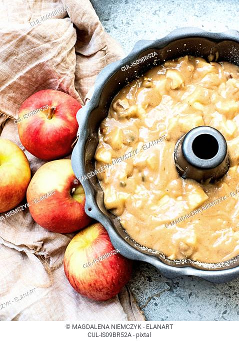 Batter mix for apple cake