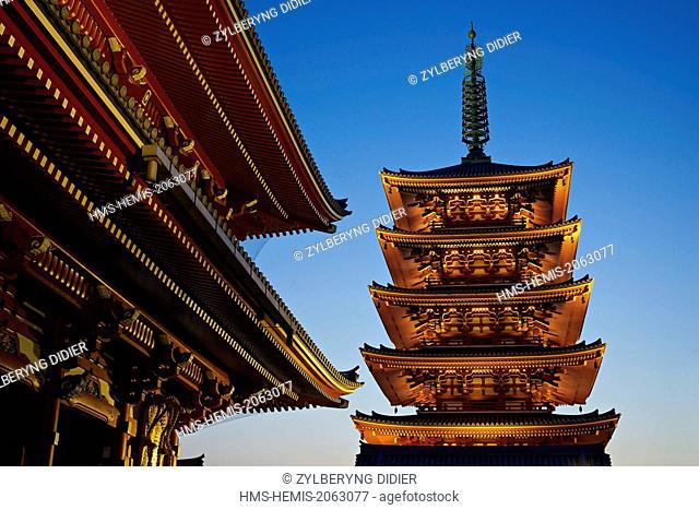Japan, Honshu island, Kanto, Tokyo, Asakusa, Senso-ji shrine
