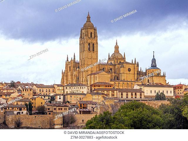 Catedral de Segovia and barrio de la Judería (Jewish Quarter). Castile-Leon, Spain
