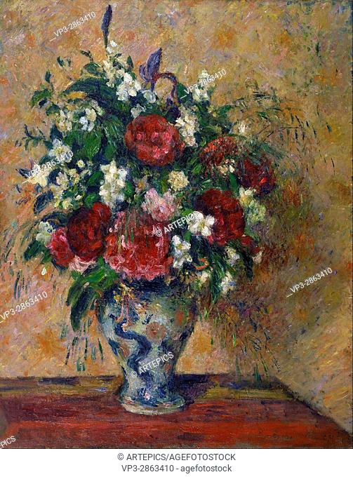 Camille Jacob Pissarro - Still life with peonies and mock orange - Van Gogh Museum, Amsterdam