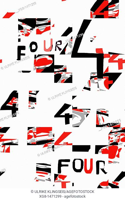 number four, four abstract
