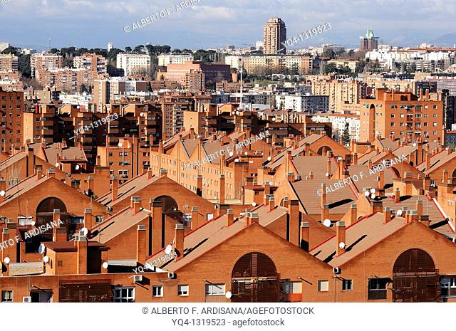Views of Madrid, with Retiro Tower in the background