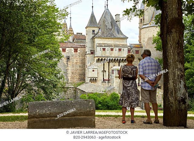 Château de la Rochepot, Côte d'Or, Burgundy Region, Bourgogne, France, Europe