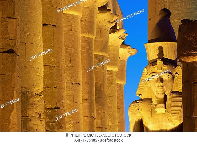 Egypt, Nile Valley, Luxor, The Temple of Luxor, Unesco world heritage