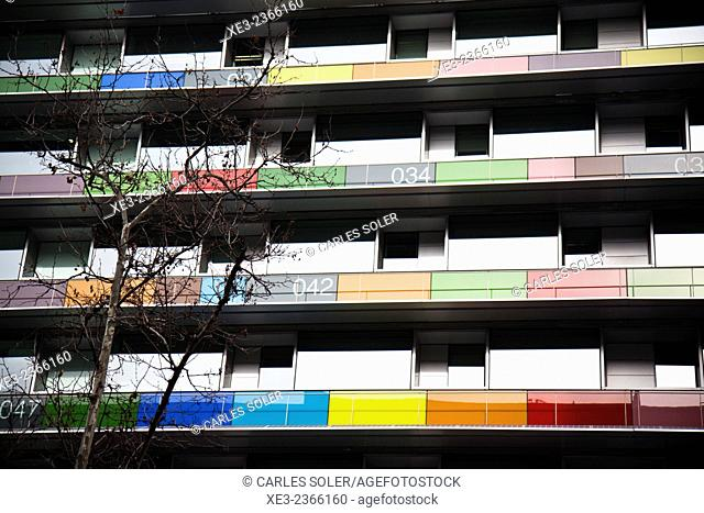 Colorful building, Madrid, Spain