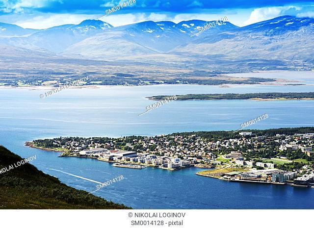 Tromso landscape view background hd