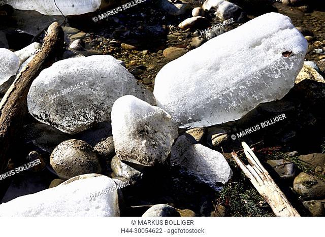 Emme, grit, gravel, brook gravel, river, riverbed, clods, floes, Emmental