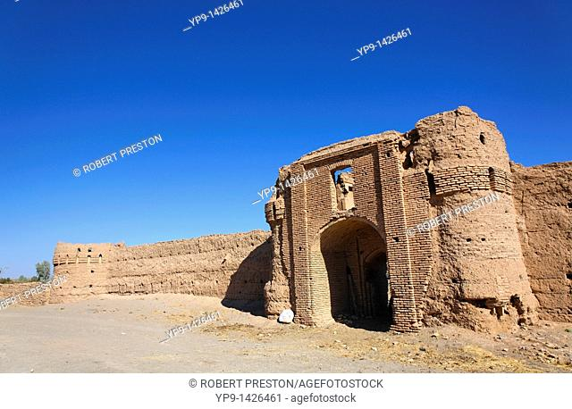 A caravanserai still in use, close to the town of Nain in southern Iran