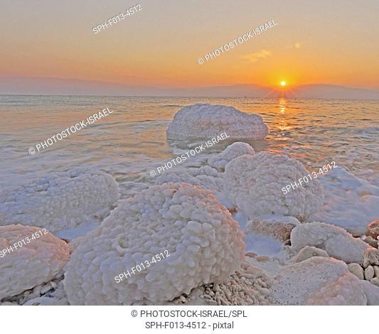 Sun rising over the Dead Sea, Israel