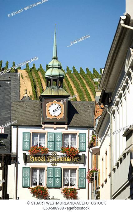 Popular wine town Rudesheim, Rhein River, Germany