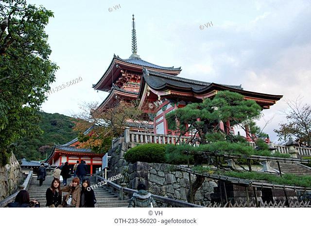 Kiyomizu temple Kiyomizu-dera pagoda, Kyoto, Japan