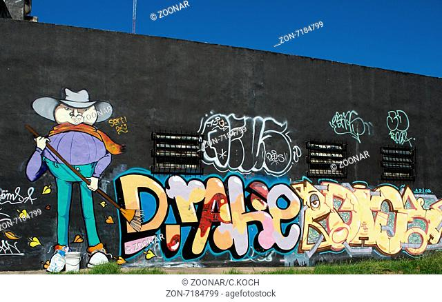 Graffitiwand in San Isidro, Province Buenos Aires 2015