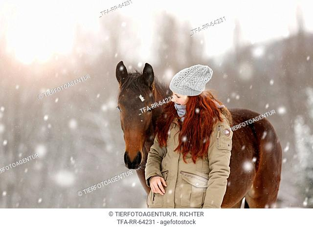 Woman with German Sport Horse