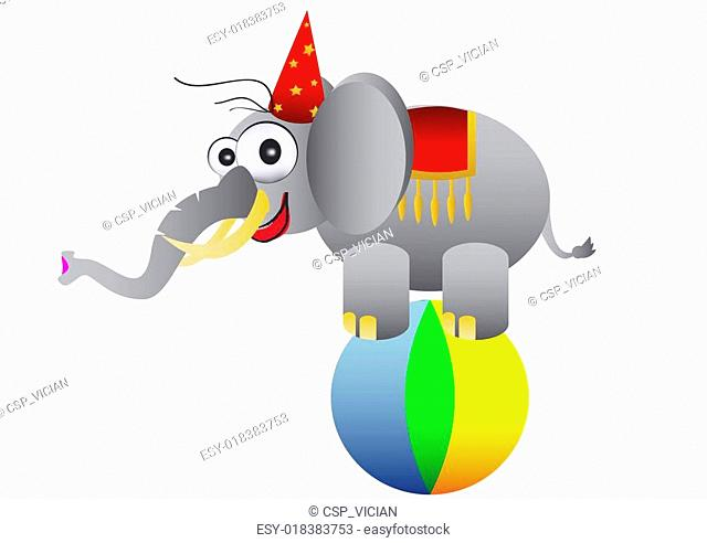 circus elephant as acrobat