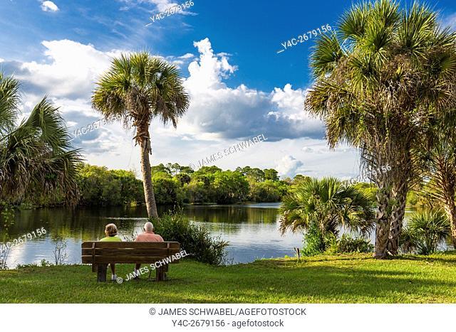 Deer Prairie Creek in Deer Prairie Creek Preserve in Venice Florida