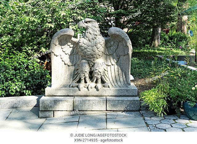 New York City, Manhattan. Central Park Zoo. Eagle Sculpure Near the Main Entrance