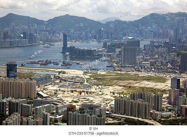 Panoramic cityscape from Kowloon Peak Fei Ngo Shan, Hong Kong