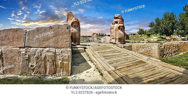Sphinx gate Hittite sculpture, Alaca Hoyuk archaeological site