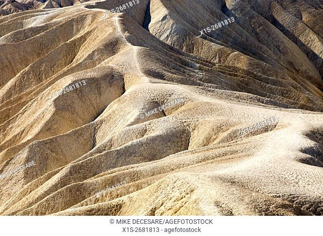 A trail across a steep ridge in Death Valley