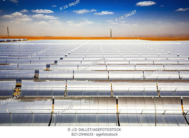 Morocco, Ouarzazate, at Noor I, Solar Energy plant, world largest