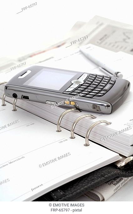 Smartphone and a date book