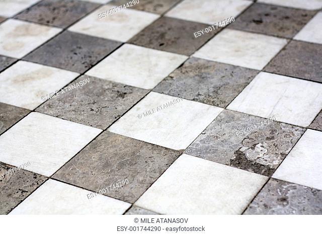 Stone tiled floor