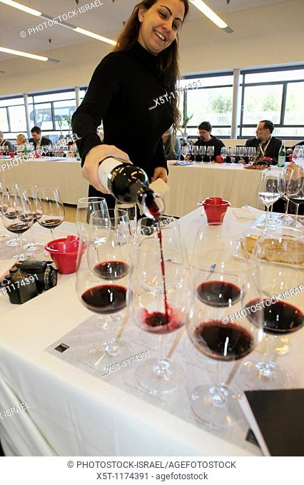 Israel, Barkan Winery  International wine tasting and grading session